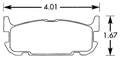 Large photo of Hawk Brake Pad, 04-05 Mazdaspeed Miata Rear (D1002), Pegasus Part No. HB468-Compound-Thickness