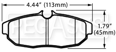 Large photo of Hawk Brake Pad, 05-10 Ford Mustang GT Rear (D1082), Pegasus Part No. HB485-Compound-Thickness