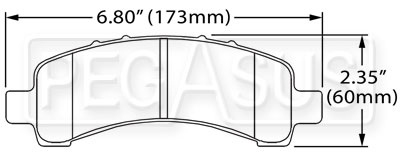 Large photo of Hawk Brake Pad: Chevrolet / GMC rear (D974), Pegasus Part No. HB494-Compound-Thickness