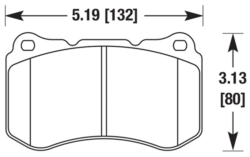 Large photo of Hawk Brake Pad: Acura TL Type S 07-08 (D1049), Pegasus Part No. HB530-Compound-Thickness