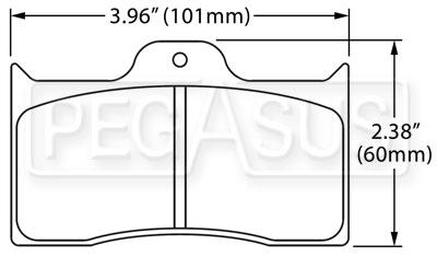 Large photo of Hawk Brake Pad: Wilwood BDL, FDL w/Cotter Pin, Pegasus Part No. HB540-Compound-Thickness