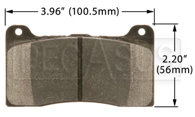 Large photo of Hawk Brake Pad: Wilwood 78xx Front and Rear, Pegasus Part No. HB542-Compound-Thickness