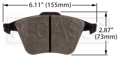 Large photo of Hawk Brake Pad, Mazdaspeed 3, Mazdaspeed 6 (D1186), Pegasus Part No. HB549-Compound-Thickness