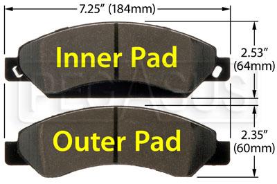 Hawk Brake Pads >> Hawk Brake Pad Escalade Silverado D1092