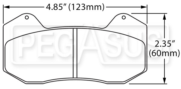 Large photo of Hawk Brake Pad: Wilwood DynaPro 6 (Type 6712), Pegasus Part No. HB645-Compound-Thickness