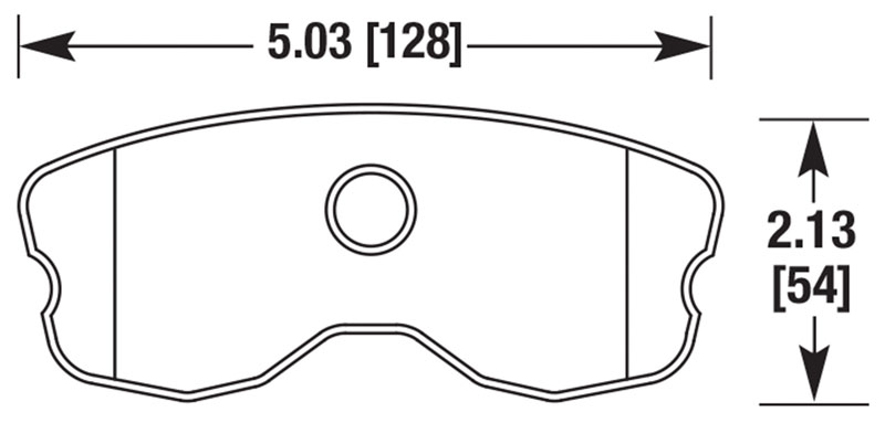 Large photo of Hawk Brake Pad: Corvette C6 Z06 / GS Rear, One-Piece (D1185), Pegasus Part No. HB659-Compound-Thickness