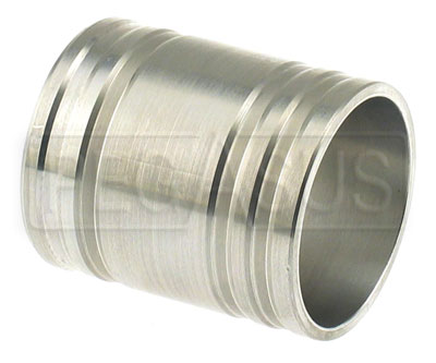 Large photo of 60mm (2 3/8 inch) Aluminum Hose Joiner, Old Design, SAVE 70%, Pegasus Part No. HI60