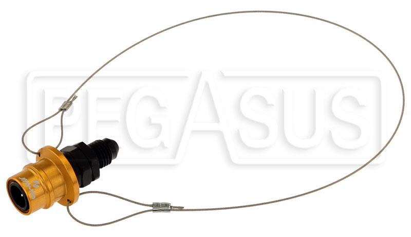 Large photo of Quick-Disconnect Socket to 4AN Male with Lanyard, Pegasus Part No. JT21404M