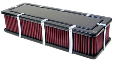 Large photo of K&N Customizable Rectangular Air Filter Assembly, Pegasus Part No. KN 56-9188-1