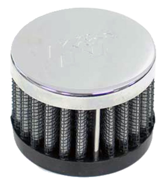 Large photo of K&N Push-On Crankcase Vent Filter, 1.5 H x 2.0 D, 1.0 ID, Pegasus Part No. KN 62-1220