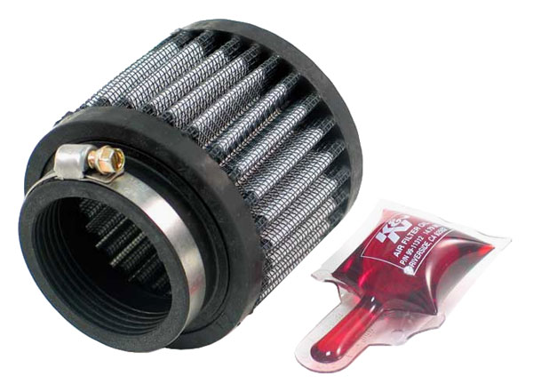 Large photo of K&N Rubber Base Crankcase Vent Filter 2.5H x 3.0D x 1.75 ID, Pegasus Part No. KN 62-1470