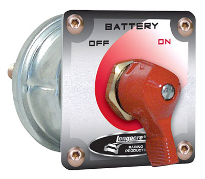 Large photo of Longacre 2-Terminal Battery Disconnect Switch with Panel, Pegasus Part No. LA45761