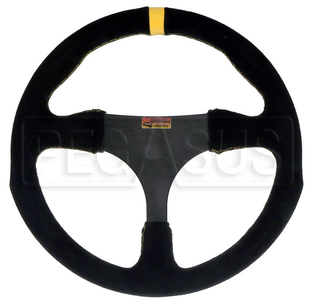 Large photo of Longacre Anatomical Suede Steering Wheel, 290mm (11.4