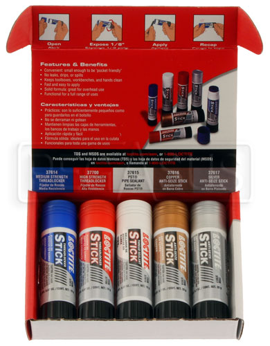 Large photo of Loctite QuickStix Assortment Kit, Pegasus Part No. LT-38725
