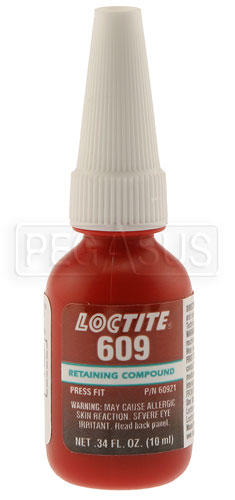 Loctite 609 Bearing Mount Green Retaining Compound 10ml Pegasus Auto Racing Supplies