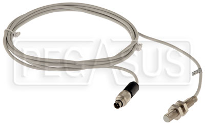 Large photo of AiM MyChron Wheel Speed Proximity Sensor, 712 Lead, Pegasus Part No. MC-146