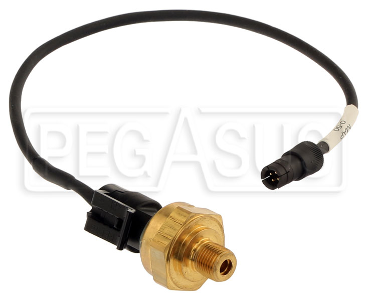 Large photo of AiM 0-50 psi Intake Boost Pressure Sensor, 719 Lead, Pegasus Part No. MC-266