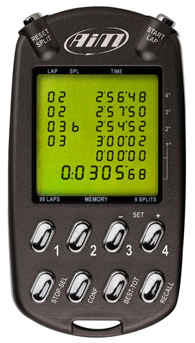 Large photo of AiM MultiChron Handheld Stopwatch, Pegasus Part No. MC-999