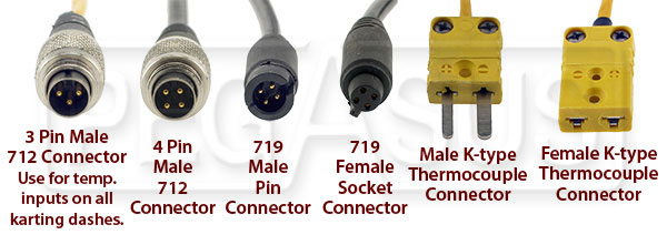 Connector Identification Photo for AiM MyChron Systems and Accessories