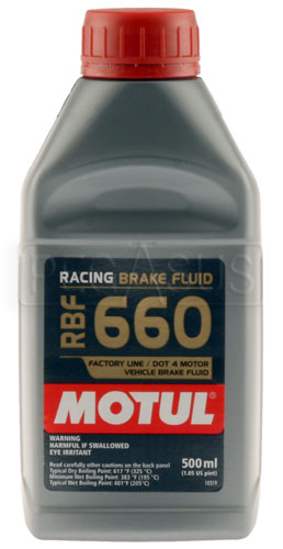 Large photo of Motul RBF 660 DOT 4 Racing Brake Fluid, Pegasus Part No. MT660-Size