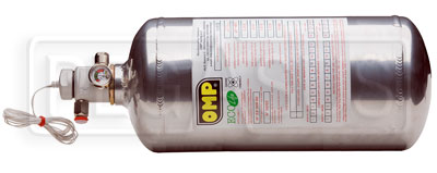 Large photo of (H) OMP Replacement Slimline Bottle for 2.8L Electric System, Pegasus Part No. OMP-CB364B