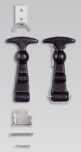 Large photo of OMP Rubber Draw Latches, X-Large T-Handle, Pair, Pegasus Part No. OMP-EB483