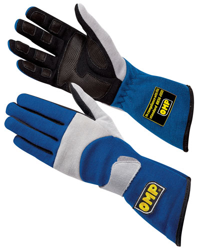 Large photo of OMP Performance Nomex Driving Glove, FIA 8856-2000, Pegasus Part No. OMP-IB741-Size-Color