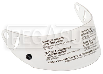 Large photo of Clear Helmet Shield for OMP Grand Prix, Speed, Pegasus Part No. OMP-SC040