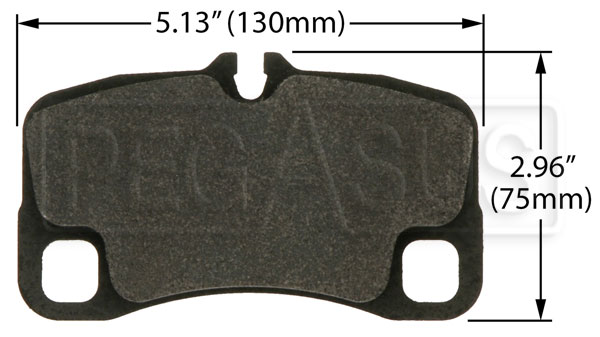 Large photo of PFC Racing Brake Pad, Porsche GT-3 Cup, Rear, Pegasus Part No. PF1299-Size