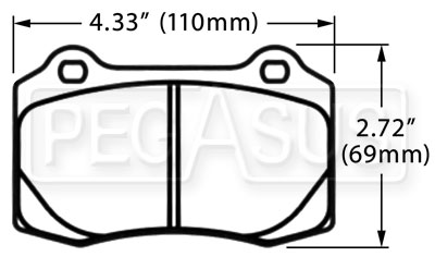 Large photo of PFC Race Pad, Alfa, Cobra R, Jaguar, Lotus, Viper (D592), Pegasus Part No. PF592-Size