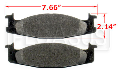 Large photo of PFC Brake Pad, Z-Rated,  Ford E/F 100/150, Pegasus Part No. PF632Z