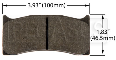 Large photo of PFC Racing Brake Pad, Brembo/Wilwood, Swift 014a, Pegasus Part No. PF736-Size