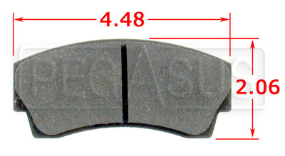 Large photo of PFC Racing Brake Pad, Formula Atlantic, F3000, F3, Alcon, AP, Pegasus Part No. PF745-Size
