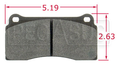 Large photo of PFC Racing Brake Pad, Brembo F40, Ferrari, Jaguar (D810), Pegasus Part No. PF780-Size
