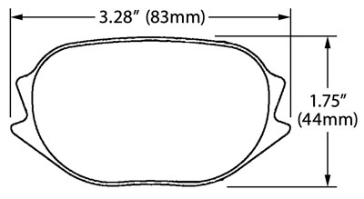 Large photo of PFC Racing Brake Pad, F2000 ZR55 Caliper, Pegasus Part No. PF7832-Size