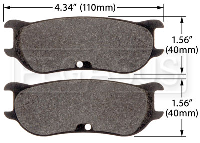 Large photo of PFC Racing Brake Pad, ZR43 Caliper, Pegasus Part No. PF7943-Size