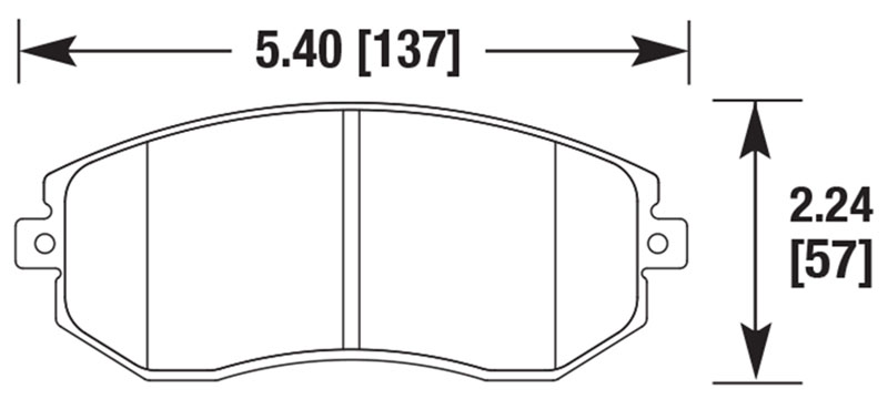 Large photo of PFC Racing Brake Pad, Scion FR-S / Subaru BRZ, Front, Pegasus Part No. PF929-Size