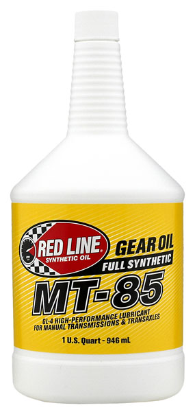 Large photo of Red Line MT-85 Manual Transmission Lubricant (75W85 GL-4), Pegasus Part No. RL016-Quantity