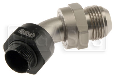 Large photo of Setrab M22 to 12AN Male Adapter, 45 Degree, Pegasus Part No. SET-M22AN12-45