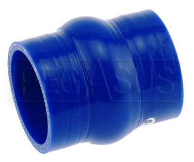 Large photo of Blue Silicone Hump Hose, 3 inch ID, Pegasus Part No. SHH76-BLUE