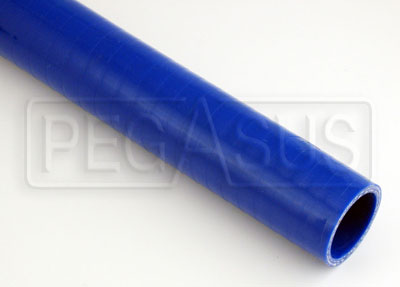 Large photo of Blue Silicone Hose, Straight, 1 1/2 inch ID, 1 Foot Length, Pegasus Part No. SHS38-BLUE