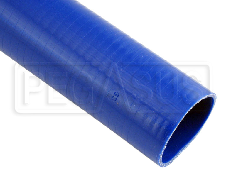 Large photo of Blue Silicone Hose, Straight, 2 1/2 inch ID, 1 Foot Length, Pegasus Part No. SHS63-BLUE