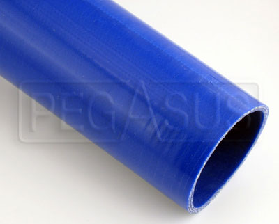 Large photo of Blue Silicone Hose, Straight, 3 inch ID, 1 Meter Length, Pegasus Part No. SHL76-BLUE