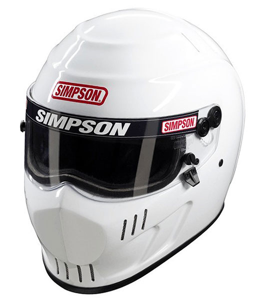 Large photo of Simpson Speedway RX Helmet, Snell SA2010, White, size 7, Pegasus Part No. SIMP451-Size-Color