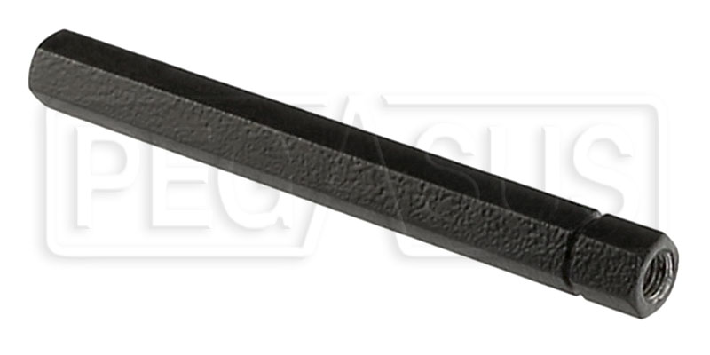Black Steel Hex Connecting Tube 3 8 24 Thread Pegasus