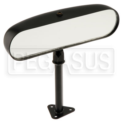 Large photo of SPA Design Center Mirror, Flat Lens -  Black Nylon, Pegasus Part No. SP SCFB-1