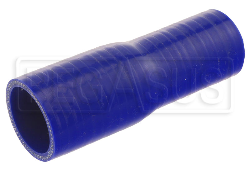 Large photo of Blue Silicone Hose, 1 1/2 x 1 1/4 inch Straight Reducer, Pegasus Part No. SR38.32-BLUE