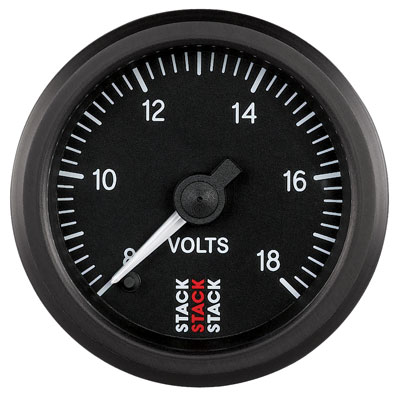 Large photo of Stack Stepper Analog Voltmeter, 8-18 V, Pegasus Part No. ST3316