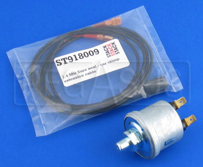 Large photo of Stack 150 psi Analog Fluid Pressure Sensor & Lead (1/8 BSP), Pegasus Part No. ST746K
