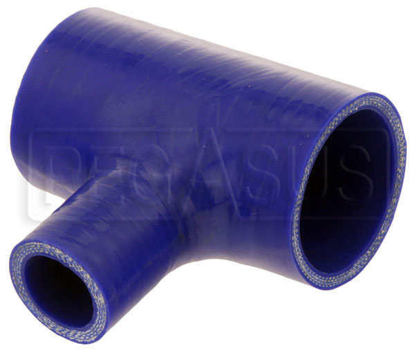 Large photo of Blue Silicone T-Hose, 51mm (2.00